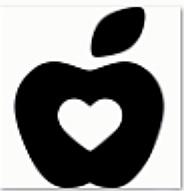 Apfel mit Herz