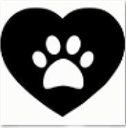 Herz mit Pfote